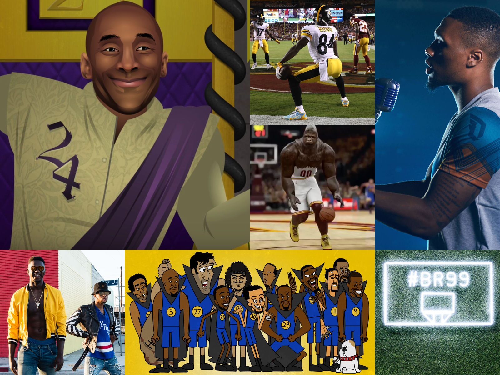 Sports collage image